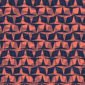 Graphic geometric diamond mosaic check grid