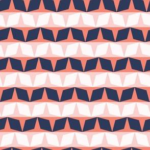 Graphic geometric diamond stripes