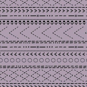 Minimal mudcloth bohemian mayan abstract indian summer aztec design winter lilac