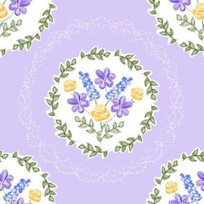 Spring Blooms Medallions - Lavender