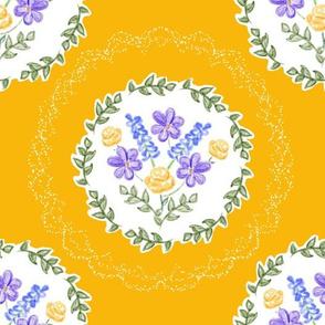 Spring Blooms Medallions - Sunflower