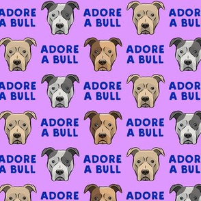 ADORE A BULL - Purple & Blue - LAD19