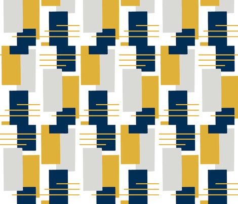 Rectangles in Blue, Gray and Yellow fabric by kendrashedenhelm on Spoonflower - custom fabric
