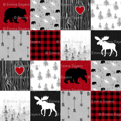 May the forest//No Writing - Wholecloth Cheater Quilt