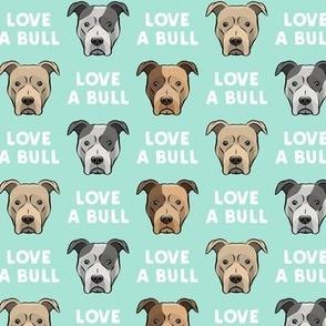LOVE A BULL - aqua - LAD19
