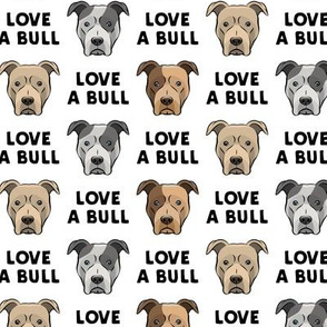 LOVE A BULL - white - LAD19