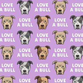 LOVE A BULL - purple - LAD19