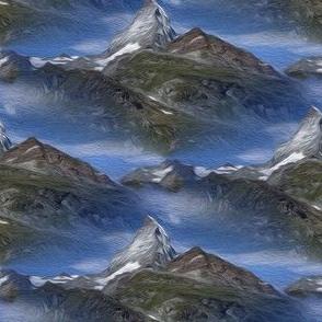 matterhorn in zermatt - painting effect