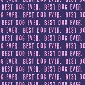 best dog ever. pink on purple - LAD19
