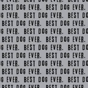 best dog ever. black on grey - LAD19