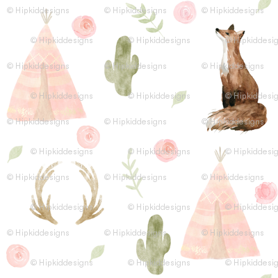 """4"""" Blushing Foxes // White"""
