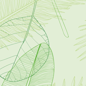 Tropical leaves Jumbo