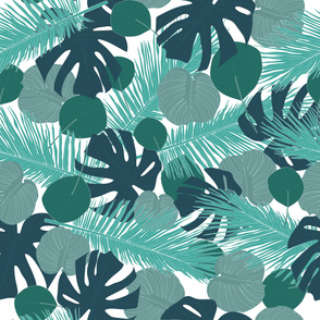 Forest tropical leaves