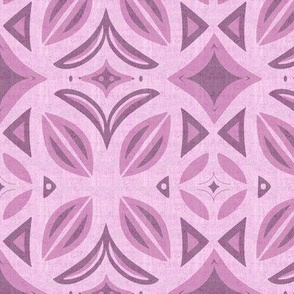 Abstract Bohemian Butterfly in Mauve Purple