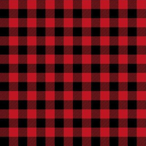"1/2 "" buffalo plaid black and red kids cute nursery hunting outdoors camping red and black plaid checks"