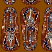 Tribal Shields - Rust