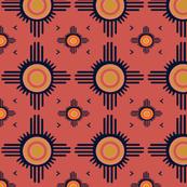 Southwest Zuni Sun - Coral