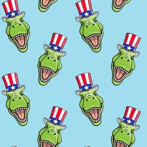Patriotic Trex  - Tyrannosaurus rex dinosaur v2  - blue   LAD19