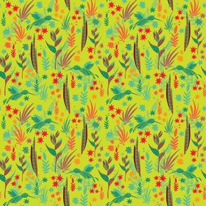 Tropical pattern green bg cropped