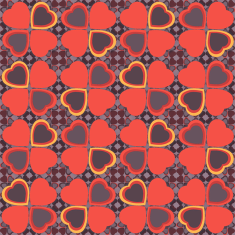 Lucky in love - orange fabric by dustydiscoball on Spoonflower - custom fabric