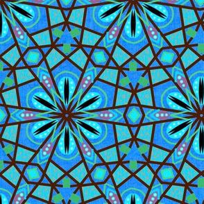 Bohemian Kaleidoscope in Blue