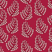 1065_Silver Leaf on Red