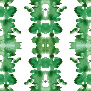 Green double inkblot