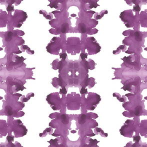 Plum double inkblot