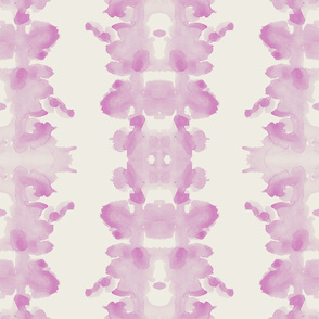 Pink on cream double inkblot