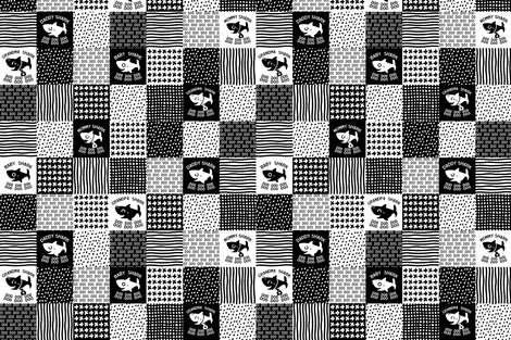 Baby Shark Cheater Quilt smaller size squares fabric by magneticcatholic on Spoonflower - custom fabric