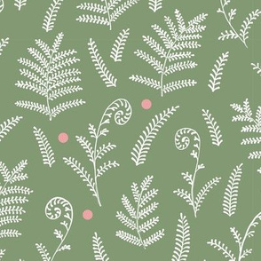 Ferns Pattern with dots light