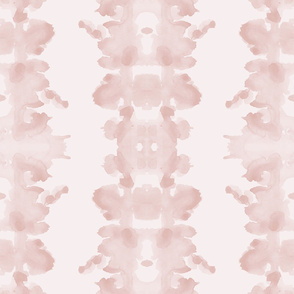 Shell Pink on palest pink double inkblot
