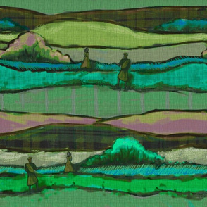 Scotland Plaid Lovers Aqua & Green