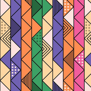Colorful Retro Line Pattern