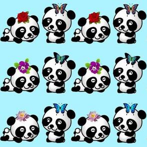 Playful Pandas - Blue