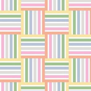 Stripe Squares pastel brights