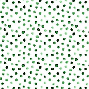 Lots of green dots || watercolor