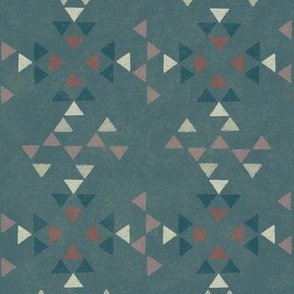 Desert Modern Triangles Blue