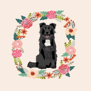 "border collie wreath - 8"" wreath dog"