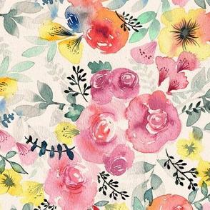 Watercolor Flowers Wallpaper