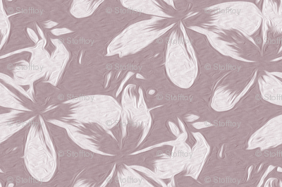 frangipani - mauve - small - painting effect