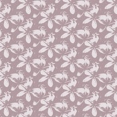frangipani - mauve - small - painting effect fabric by stofftoy on Spoonflower - custom fabric
