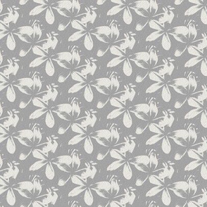 frangipani - gray - small - painting effect
