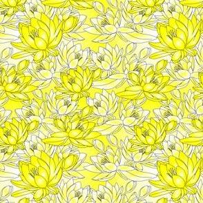 Celia Waterlilies Yellow Fabric