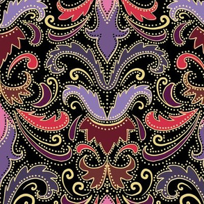 purple and wine damask