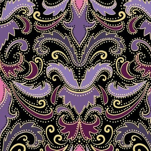 Purple and mauve damask
