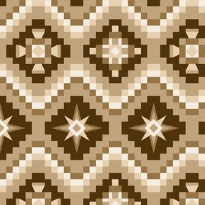 Aztec in browns and tan