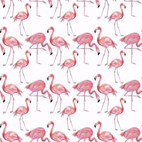Watercolour Flamingo Fabric