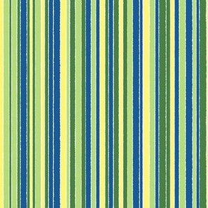 Narrow Striped green-blue-yellow - vertical