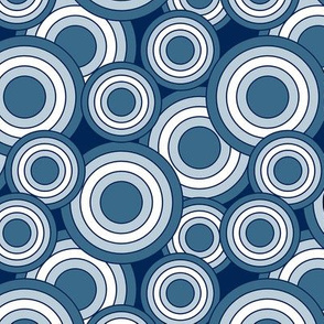 concentric circles blue white